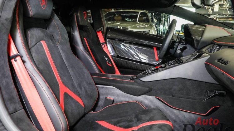 Lamborghini Aventador SVJ Coupe   2021 – GCC – Under Warranty   Ultra Low Mileage   Fully Loaded