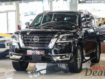 Nissan Patrol LE Platinum City | 2021 – GCC | Warranty Till March 2026 | Starlights – Full Option